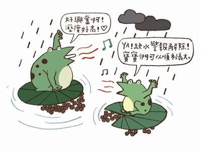 卡通农场吸引青蛙