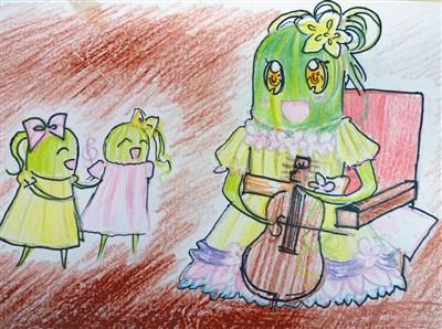 丝瓜儿童画作画步骤