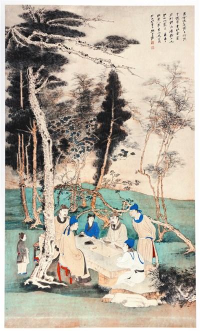 张大千书画作品一百余件,展品主要来自河南及大陆各地的民间收藏家图片