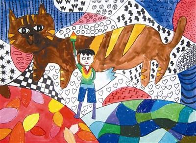 快乐涂鸦簿 火炬少年与猫