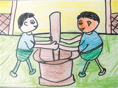 卡通书包儿童画