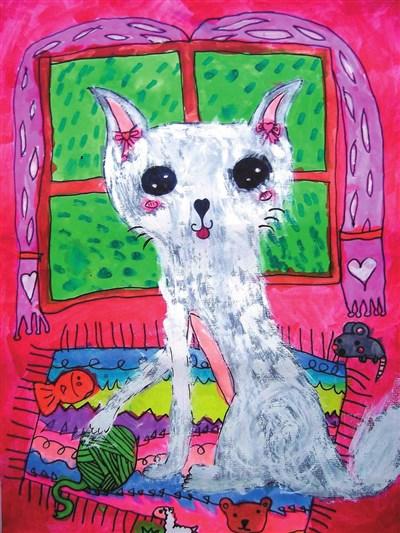 快乐涂鸦簿 可爱小猫