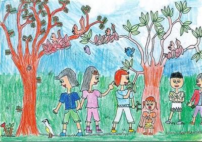 儿童郊游简笔画
