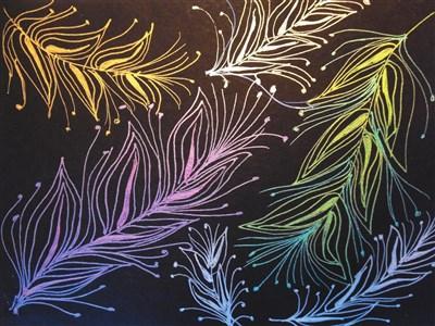 文创生活学 禅绕画画开心中的纠结