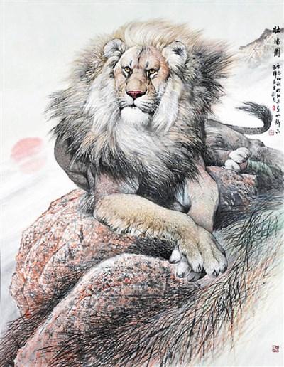 写意狮子怎么画步骤图