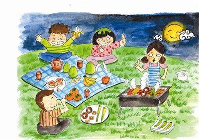 健康儿童 健康吃 赏月趣   少年天地   人间福报