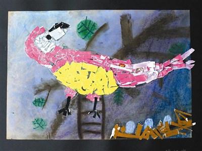 童画天地 广告纸拼贴画—鹦鹉
