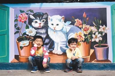 过年带房子的幼儿园图画作品