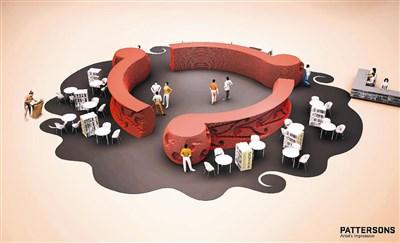 二○一五台北国际书展,纽西兰主题国馆的设计图.