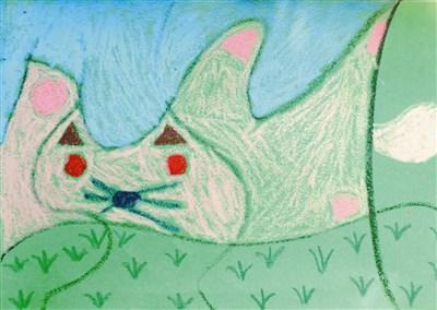 快乐涂鸦簿 猫的抽象画