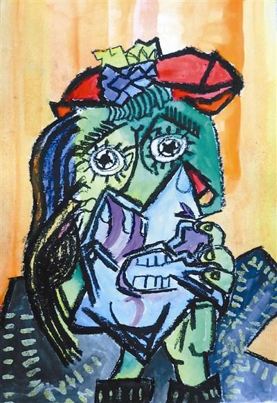 快乐涂鸦簿 哭泣的女人