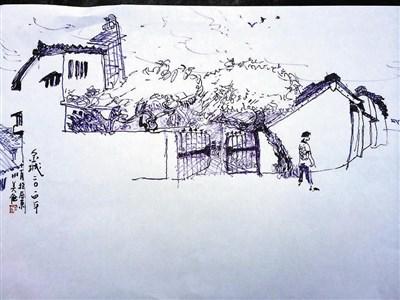 青岛中山风景速写