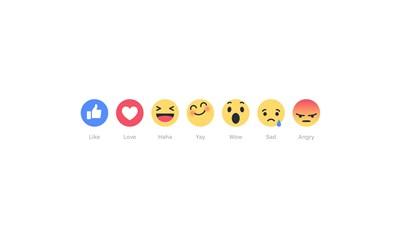 脸书开始测试代表喜怒哀乐的6种新