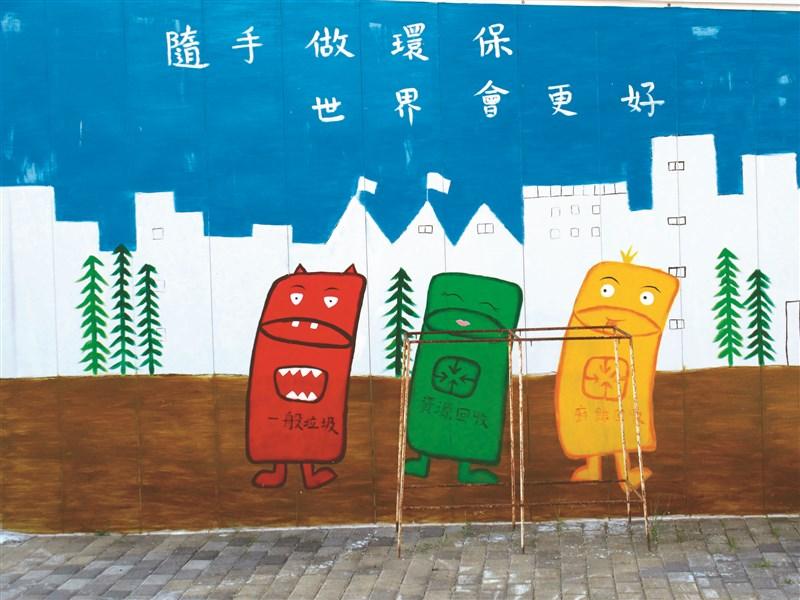 人間福報                                    【生活快門】 環保塗鴉牆